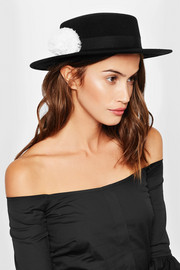 Eugenia Kim Brigitte feather-trimmed wool-felt hat