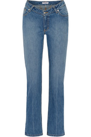 Dip mid-rise straight-leg jeans