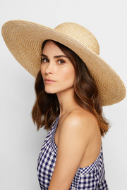 Bunny sequin-embellished straw sunhat