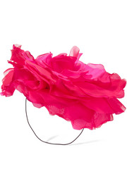 Eugenia Kim Ardelia silk-organza fascinator