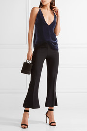 Dion Lee Velvet and crepe camisole