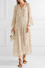 Lotte printed silk crepe de chine maxi dress