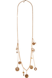 Chloé Gold-tone charm necklace