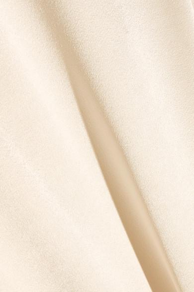 Halston Heritage Robe aus Satin mit Rückenausschnitt