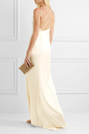 Open-back satin gown