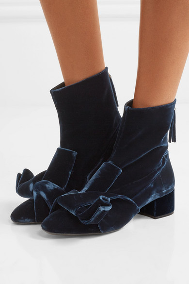 Best Wholesale Online No21 40MM ANKLE BOOTS W/ VELVET BOW Clearance Pictures Buy Cheap Low Cost With Mastercard For Sale 2018 Newest Cheap Online yTX9fGns