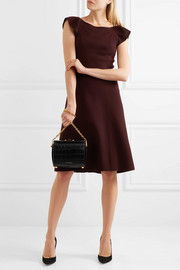 Bottega Veneta Ruffled wool-crepe dress