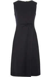 Bottega Veneta Ruched wool-crepe midi dress