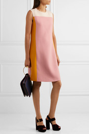 Bottega Veneta Color-block wool-crepe dress