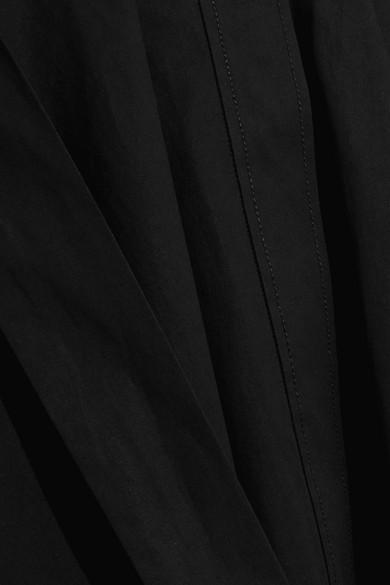Bottega Veneta Kleid aus Stretch-Baumwollpopeline mit Gürtel