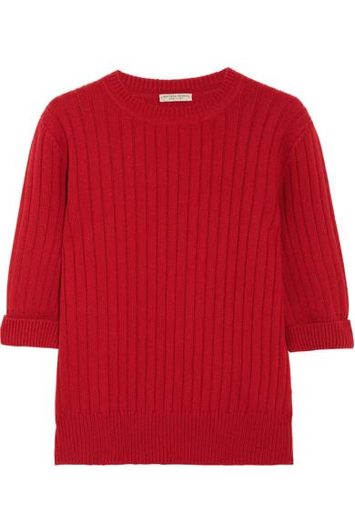 Bottega Veneta - Ribbed Wool And Cashmere-blend Sweater - Red