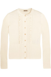 Bottega Veneta Ruffled cotton-blend cardigan