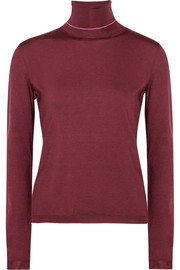 Bottega Veneta Stretch silk-blend turtleneck sweater