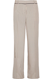 Bottega Veneta Printed silk crepe de chine pants