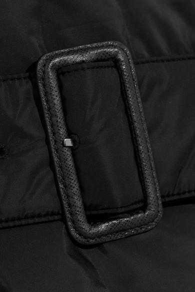 Prada Doppelreihiger Oversized-Mantel aus gestepptem Shell