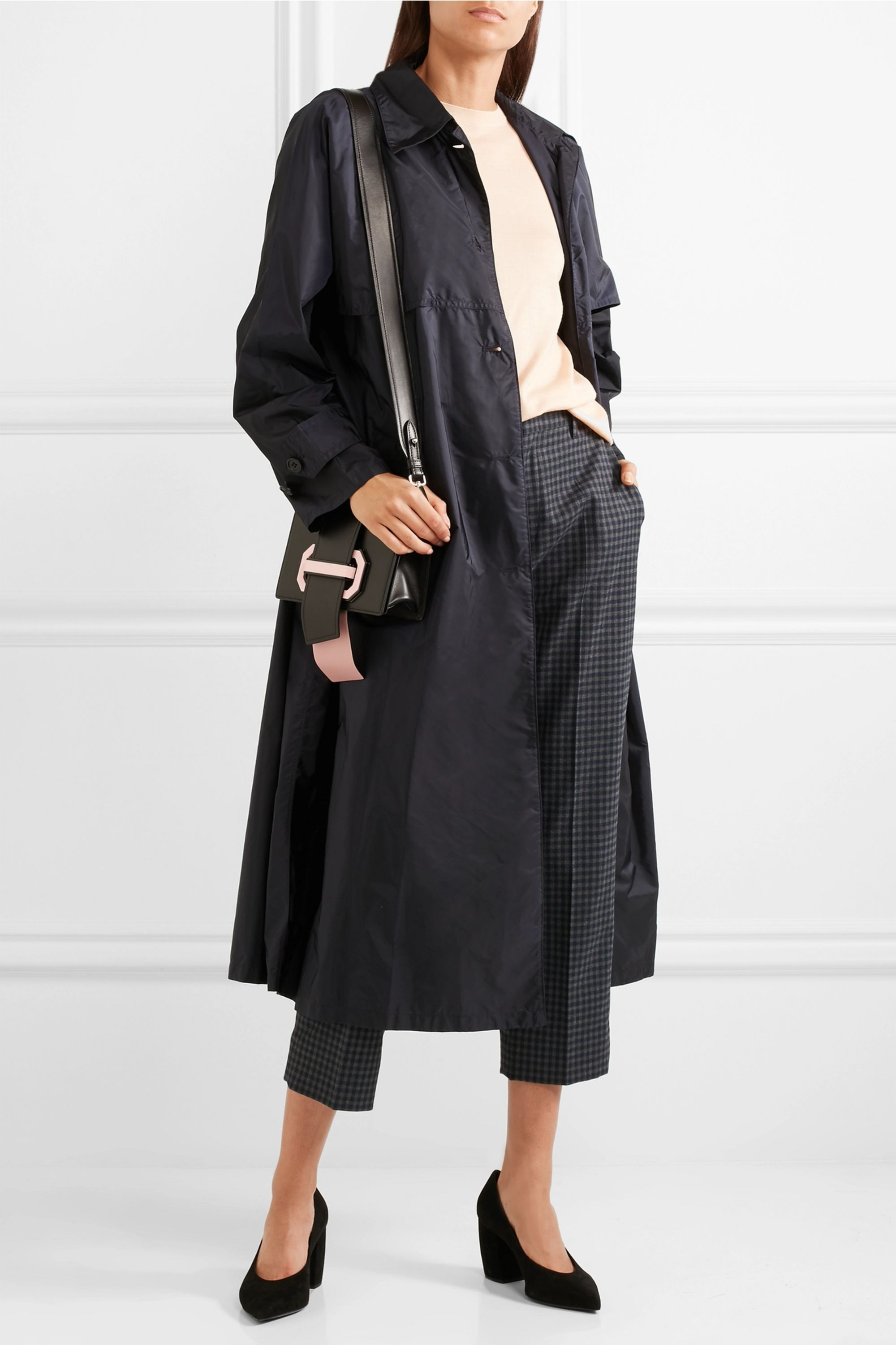Prada Belted shell trench coat