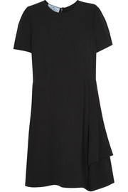 Prada Pleated cady mini dress