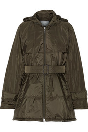 Prada Hooded quilted shell jacket