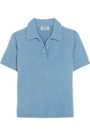 Prada Wool-blend bouclé polo shirt