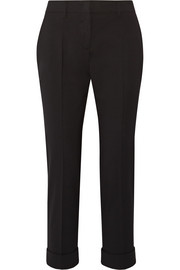 Prada Stretch-wool slim-leg pants