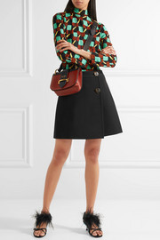 Natte wool wrap mini skirt