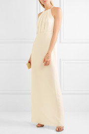 Draped georgette gown