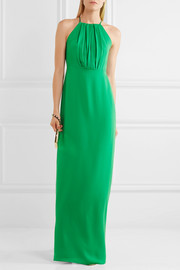 Halston Heritage Ruffled twill gown