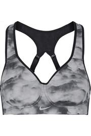 Pro Rival mesh-trimmed printed Dri-FIT stretch sports bra