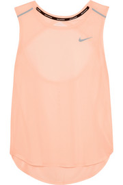 Nike Breathe cutout perforated stretch-mesh tank