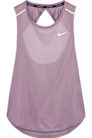 Nike Breathe open-back stretch-mesh tank