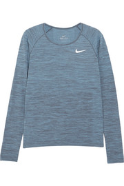 Nike Dri-FIT textured-jersey top