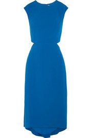 Halston Heritage Cutout crepe midi dress