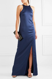 Halston Heritage Open-back satin gown
