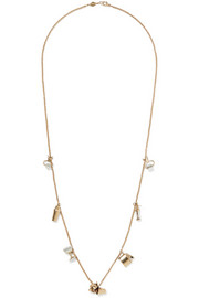 Fred Leighton 20th Century14-karat gold crystal necklace