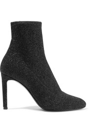Giuseppe Zanotti Natalie glittered stretch-knit sock boots