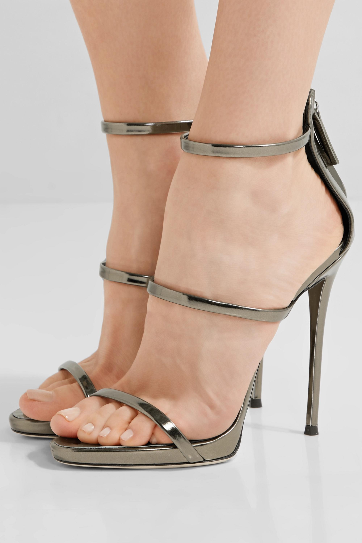 Brass Harmony metallic leather sandals