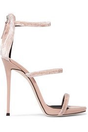 Giuseppe Zanotti Velvet and patent-leather sandals