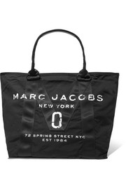 Marc Jacobs Leather-trimmed printed shell tote