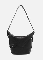 Sling leather shoulder bag