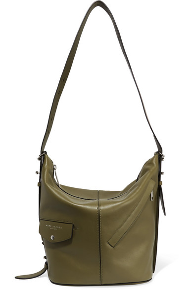 marc jacobs female marc jacobs sling leather shoulder bag army green