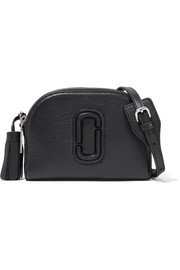 Shutter textured-leather shoulder bag