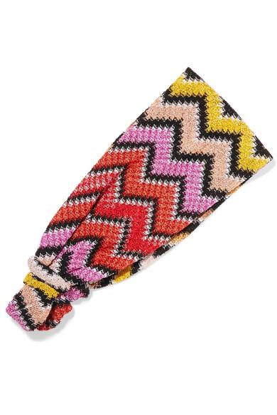 Missoni - Crochet-knit Headband - Pink