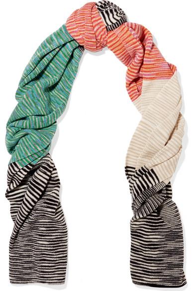 Missoni - Striped Cashmere Scarf - Ivory