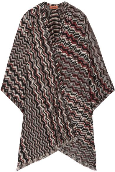 Missoni - Fringed Crochet-knit Wool-blend Wrap - Black
