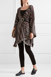 Missoni Fringed crochet-knit wool-blend wrap