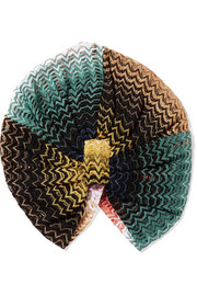 Mare crochet-knit turban
