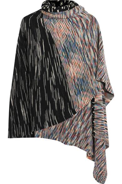 Missoni - Striped Wool-blend Wrap - Black