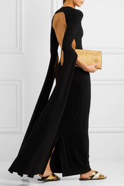Norma Kamali Open-back jersey maxi dress