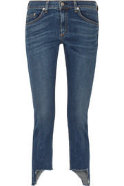 The Capri distressed mid-rise skinny jeans