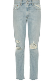 Marilyn distressed high-rise skinny jeans